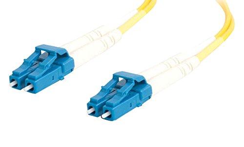 (C2G 29191 OS2 Fiber Optic Cable - LC-LC 9/125 Duplex Single-Mode PVC Fiber Cable, Yellow (3.3 Feet, 1 Meter))