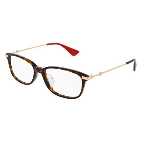 Eyeglasses Gucci GG 0112 OA- 002 AVANA / - Gucci Eyeglasses Mens Gold