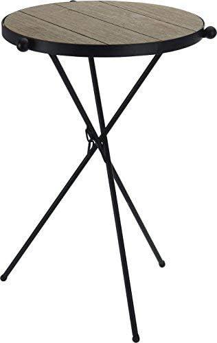 Tres patas Mesa Auxiliar Negro – Metal sofá mesa plegable mesa ...
