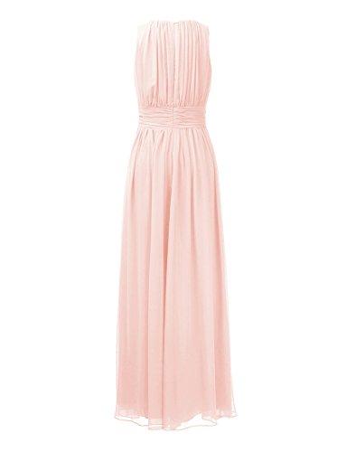 poudr Elgante Moussline d'honneur Mariage rose Ssyiz Demoiselle Robe Femme Robe Longue Maxi Plisse de Soiree wwRHBq6