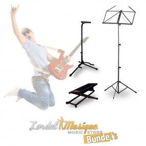BUGT-04 - Bundle pupitre stand guitare et repose pied Lordel Musique Bundle' s