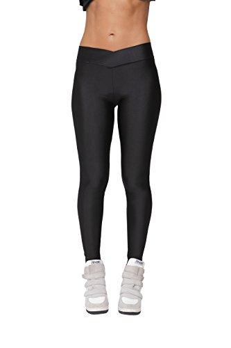 Shiny Slim Leggings (Black) - 5