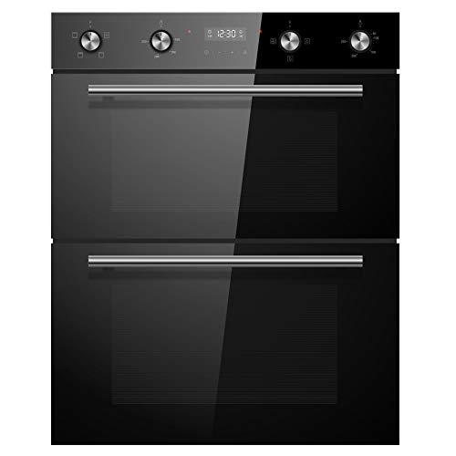 Cookology CDO720BK 60cm Black Built-under Electric Double Oven & timer