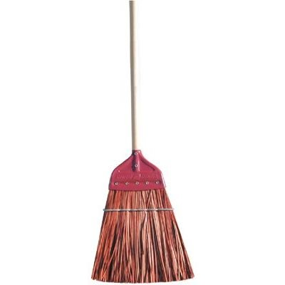 Metal Cap Brooms - brown polypro metal-capupright broom