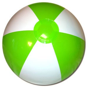 Beachballs - 16'' Lime Green & White Beach