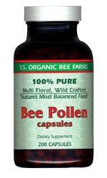 Ys Bee Farms, Bee Pollen, 200 Capsules