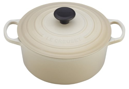 Le Creuset Signature Enameled Cast-Iron 9-Quart Round French (Dutch) Oven, Dune