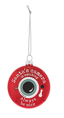 - Always Be Nice Santa's Camera Look 3 Inch Christmas Ball Ornament