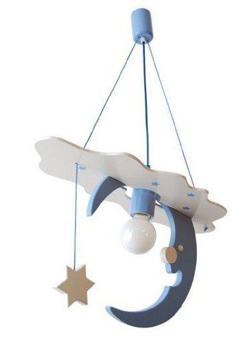 ItalPol Produkt Splendida e Grande 54cm x 26cm Lampada Luna lampadario  cameretta Bambini in Legno.