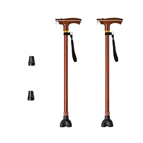 NUBAO Sticks for The Elderly with Light Crutches Lightweight Non-Slip Walking Sticks 10 Files Retractable Rubber Handles 2 Colors Single Foot/Small Four-Foot Swap