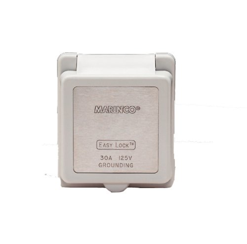 Marinco 301ELCB Marine Electrical Inlet Replacement Cap and Bezel