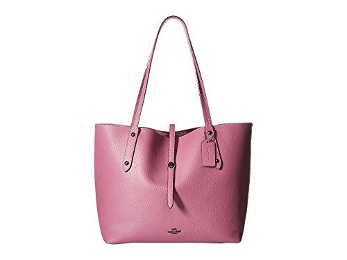 COACH Women's Market Tote with Metallic Lining Dk/Primrose/Metallic Blush One Size (Handbags Tote Coach)
