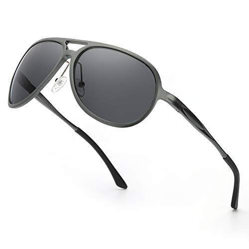 ELIVWR Pilotenbrille Sonnenbrille Herren Polarisier Metallrahmen Leicht für Autofahren, 100% Schutz vor Schädlichen UVA/UVB Strahlen