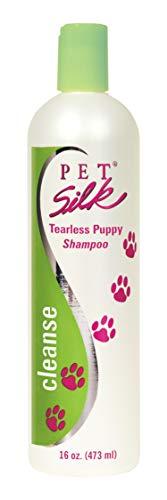 Pet Silk Tearless Puppy Shampoo (16 Ounce) - Tear Free Dog Shampoo with Mild Surfactants - Gentle Formulation Pet Shampoo for Sensitive Skin - Fragrance & Dye Free ()
