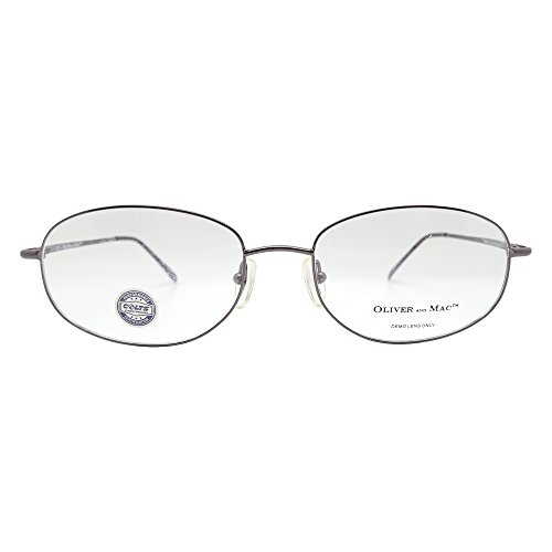 Oliver And Mac Men's London Eyeglasses Prescription Frames (Gun Metal, 57-19-145)