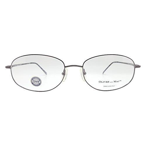 Oliver And Mac Men's London Eyeglasses Prescription Frames (Gun Metal, 57-19-145)