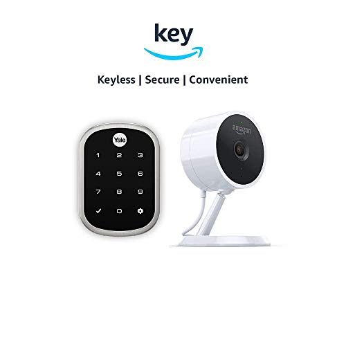 Yale Assure YRD256 SL Key Free Touchscreen Deadbolt + Amazon Cloud Cam | Key Smart Lock Kit (Satin Nickel)