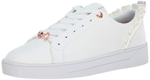 (Ted Baker Women's Astrina Sneaker, White Leather, 5.5 Medium US)