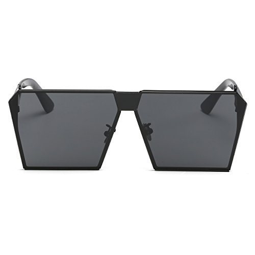 Top Sunglasses Frame CVOO Metal Oversized Black Sunglasses Square Flat wIwYEq1