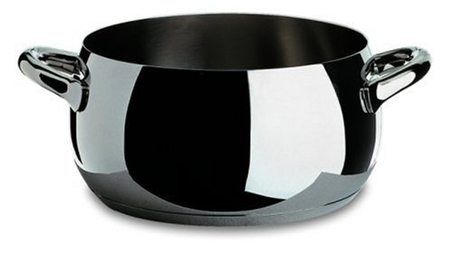 Alessi,SG101/20 ''MAMI'', Casserole with two handles in 18/10 stainless steel mirror polished,3 qt 9  oz by Alessi