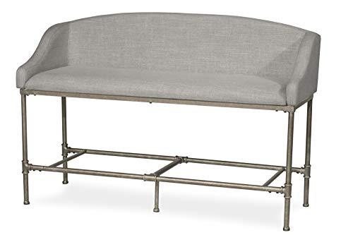 Sensational Hillsdale Furniture Dillon Upholstered Upolhstered Counter Height Bench Pewter Inzonedesignstudio Interior Chair Design Inzonedesignstudiocom
