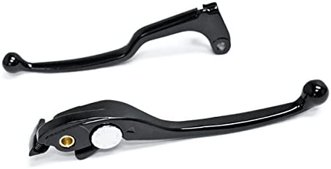 Krator Brake Clutch Hand Lever Black Replacement Set For 2003 Honda CBR 954RR