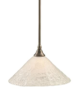 Toltec Lighting 23-BN-441 Stem Mini-Pendant Light Brushed Nickel Finish with Italian Bubble Glass