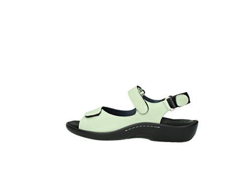 Leather Salvia Sandals Womens 270 Green Wolky 1300 Light AFtvqnw