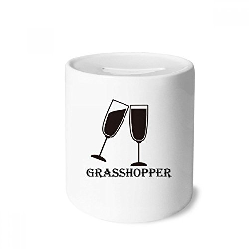 - DIYthinker Silhouette Of Grass Hopper Cocktail Money Box Saving Banks Ceramic Coin Case Kids Adults