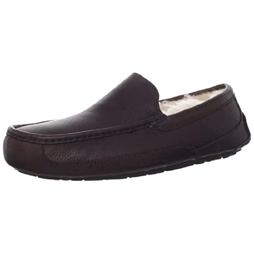 ugg australia men's ascot leather slippers china tea
