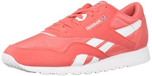 Reebok Classic Nylon Sneaker, Bright Rose/White, 9.5 M US
