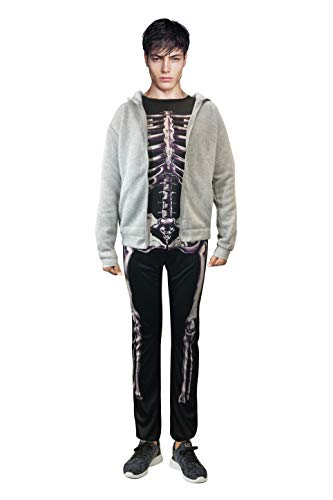 Donnie Darko Skeleton Set (Suit + Hoodie) Coat Adult Costume Jumpsuit (XL)