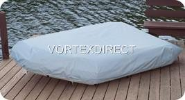 "NEW grey 7 1/2' VORTEX INFLATABLE BOAT DINGY DINGHY COVER/600D, FITS UP TO 7 1/2' LONG, 4 1/2' WIDE, 15"" TALL (FAST SHIPPING - 1 TO 4 BUSINESS DAY DELIVERY)"