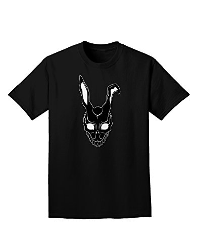Rabbit Donnie Darko Mask (TooLoud Scary Bunny Face Black Adult Dark T-Shirt - Black -)