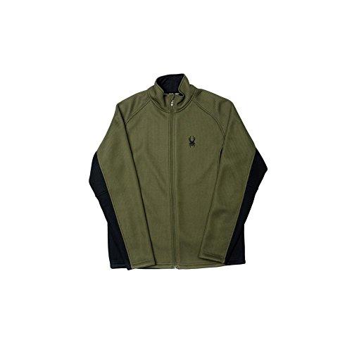 (Spyder Men's Foremost Full Zip Sweater, Medium, Guard/Black)
