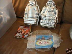 Nordic Ware Heavy Formed Aluminum 2-Piece Santa Cake Mold (Chimney Christmas Santa Down Cake)