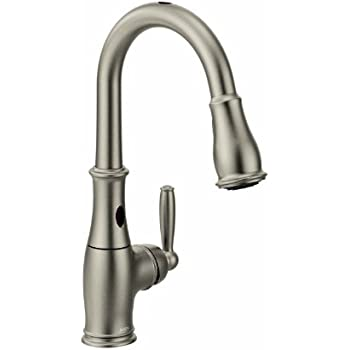 Attractive Moen Brantford Motionsense Touchless One Handle High Arc Pulldown Kitchen  Faucet Featuring Reflex,