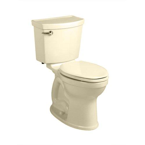 (American Standard 241BA104.021 Champion-4 HET Right Height Round Front Toilet (2 Piece), Bone)