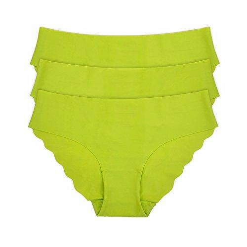 La Isla - Braguita de Talle Bajo Bikini Para Mujer, Pack de 3 Verde