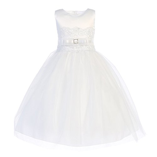 White Satin Tulle Dress - 2