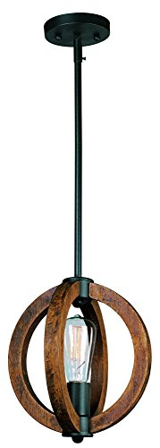 Maxim Lighting 91910APAR Mini Bodega Bay 1-Light Pendant, Anthracite