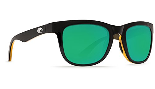 Costa Del Mar Copra Sunglass, Shiny Black/Amber, Green Mirror - Copra Costa