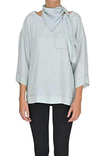 - Marni Women's Mcgltpc000005019e Light Blue Acetate Blouse