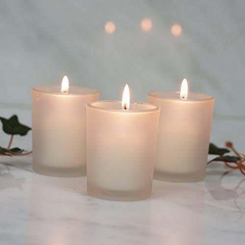 (Mikash Frosted Glass Votive Candle Holders Wedding Favor Centerpiece Decorations Sale | Model WDDNGDCRTN - 18543 | 144 Pieces)