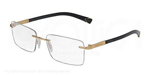 Dolce & Gabbana Montures de lunettes 1260K Basalto - Gold Plated Pour Homme Gold Plated Sandblasted, 53mm 02: Gold Plated Sandblasted