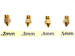 .2mm .3mm .4mm .5mm 3D Printer Nozzle for MK7 MK8 makerbot RepRap 1.75mm ABS PLA by Daewon Industries