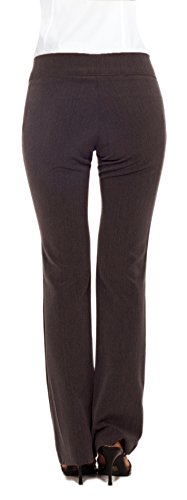 Women's Fitted Career Double Waist Business Bootcut Leg Trousers Pants