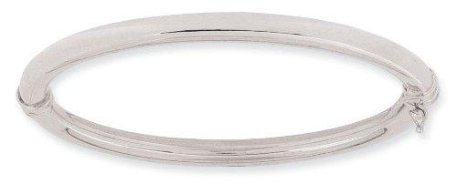 Diamantly - Bracelet or Gris Jonc 5mm - Bijoux or Rhodiè 375/1000 (9 Carats) - Femme - Fille