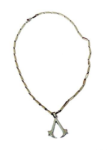 Elegant Men's Assassin's Creed Pendant Necklace Cosplay Titanium Steel Chain