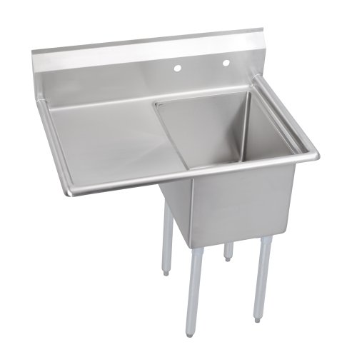 "Standard Scullery Sink, 1-Compartment 14"" Deep Bowl, 18"" Left Drainboard, 38.5 (L) X 29.75 (W) X 43.75 (H) Over All"